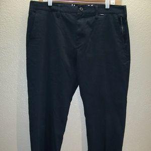 """HURLEY/NIKE 36""""W 30""""L 2%Spandex Dri-Fit Pants"""